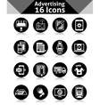 Advertising Icons Black vector image