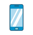 Blue smartphone flat icon vector image