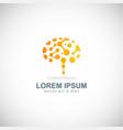 brain idea technology logo vector image