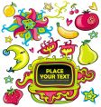 colorful set of design elements vector image