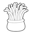 coral icon outline vector image