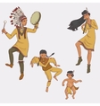 native americans dancing indian family in vector image