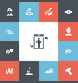 set of 13 editable construction icons includes vector image