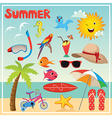 Set of Summer Elements and vector image