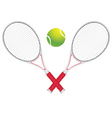 Tennis Ball and Racket2 vector image