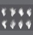 transparent smoke on dark a plaid background vector image
