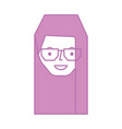 young woman with glasses avatar character vector image