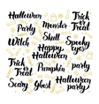 Happy Halloween Hand Drawn Lettering vector image