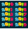 Colorful 3D New Years Banners vector image vector image