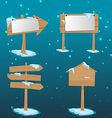 Wood Placard Christmas Snow Boards vector image