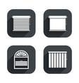 Louvers icons Plisse vertical and rolls vector image