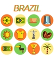 Brazil icon set Flat design vector image