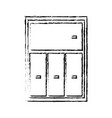 cabinet shelf furniture wooden office book vector image