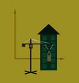 Flat icon on stylish background construction crane vector image