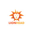 lion head geometric logo vector image