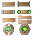 Outdoor furniture Bench top view for landscape vector image