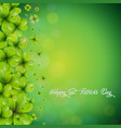 saint patricks day background design with falling vector image