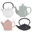 set of icon tea pots vector image