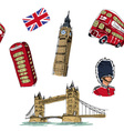 London seamless pattern vector image vector image