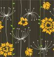 retro floral seamless background with roses or ast vector image