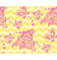 Seamless chevron floral Background vector image vector image