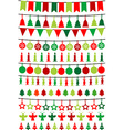 Christmas buntings and garlands vector image