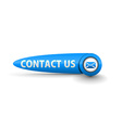 contact button vector image