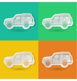 set of car vector image