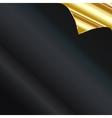 Sheet of golden paper with a curl vector image