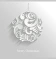 Abstract Floral Christmas Ball vector image