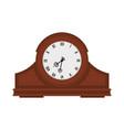 analog old wooden wall clock vector image