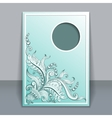card with hand-drawing ornaments vector image