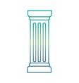 column pillar isolated icon vector image