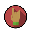 finger love symbol vector image