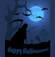 halloween poster with creepy landscape vector image