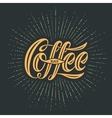 Hand-drawn lettering with text Coffee Black vector image