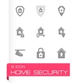 home security icon set vector image
