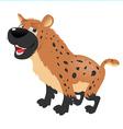 Hyena sitting vector image