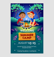 Kids summer camp flier vector image