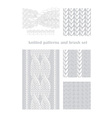 knitted patterns and brush vector image