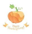 Modern flat style Thanksgiving day pumpkin vector image