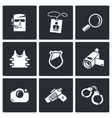 Security Service icons set vector image