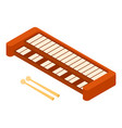 synthesizer icon isometric style vector image