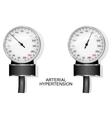tonometer for measuring blood pressure vector image