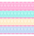 wedding set of lacy ribbons vector image