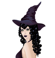 Witch with Black Hair2 vector image
