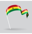 Ghanaian wavy flag vector image