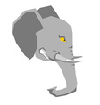 Angry elephant head of big aggressive animal with vector image vector image