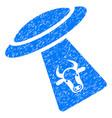 cattle ufo abduction icon grunge watermark vector image