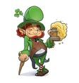 Dwarf with beer vector image